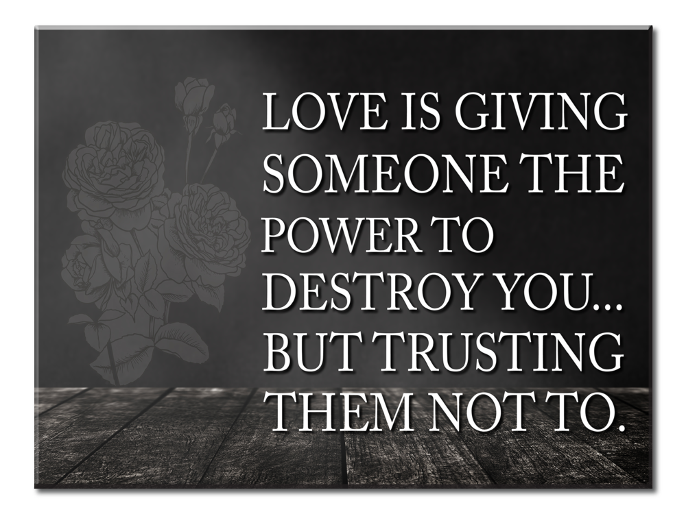 Love Is Giving Someone The Power To Destroy You (Single Panel Canvas Wall Art 40x30)