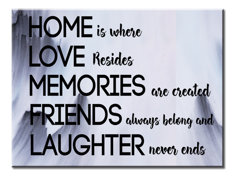 Home is where Love resides (Single Panel Canvas Wall Art 40x30)