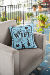 To My Gorgeous Wife - Pillow Case