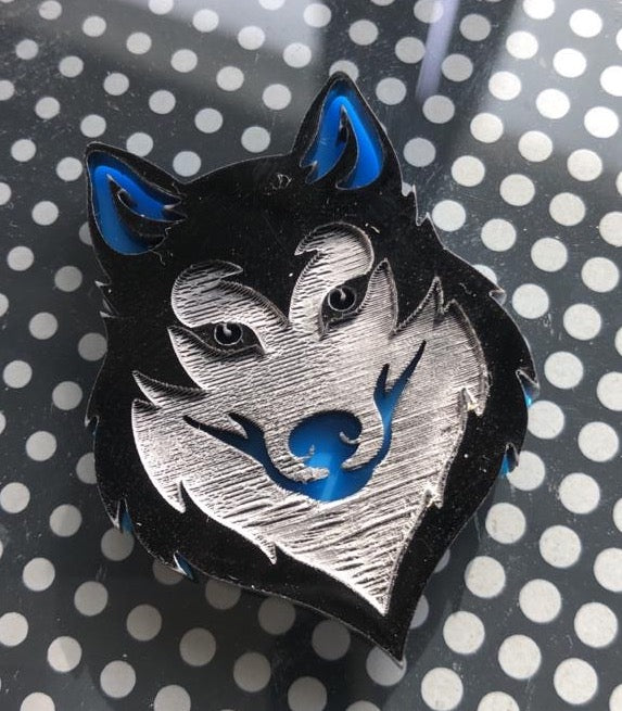 Husky Dog Tag Blue