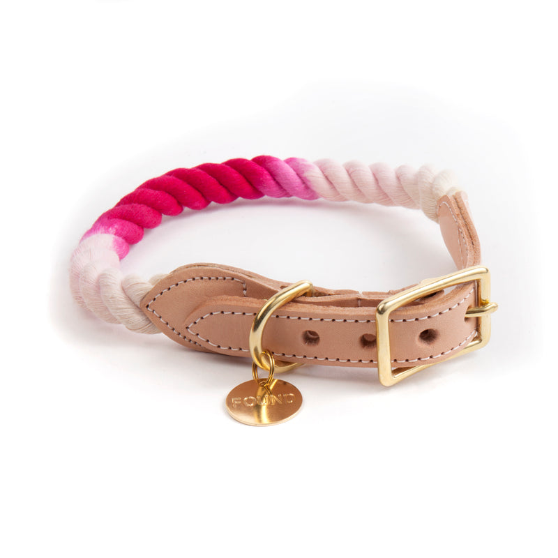 Found My Animal -Magenta Rope Dog Collar