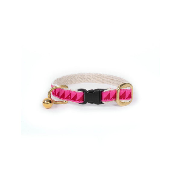 See Scout Sleep -Ruby Red & Pink Cat Collar