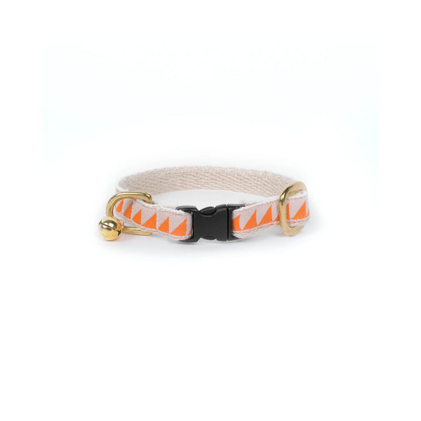 See Scout Sleep - Tangerine Cat Collar