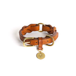 Hyde Park Dog Collar- Cognac