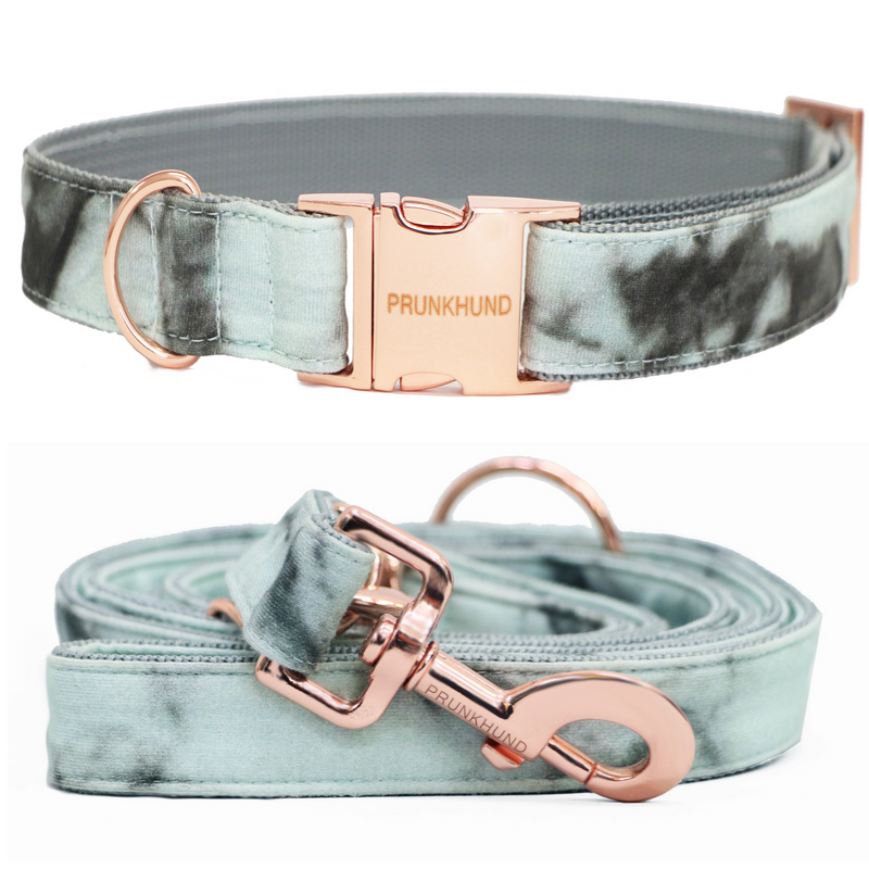 Marble Mint Adjustable Dog Lead (Pre-order)