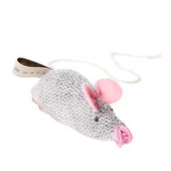 Mungo & Maud-Knitted Mouse Cat Toy-Grey