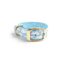 Something Blue Dog Collar Clouds