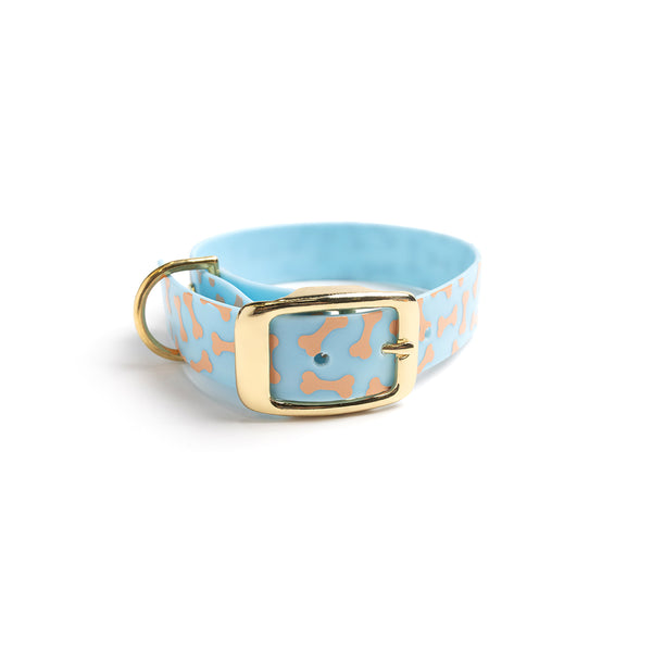 Something Blue Dog Collar Bones