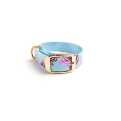 Something Blue Dog Collar Pink Rose