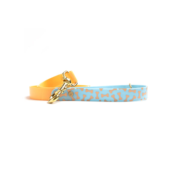 Peach Melba Waterproof Dog Collar-Blue Bone