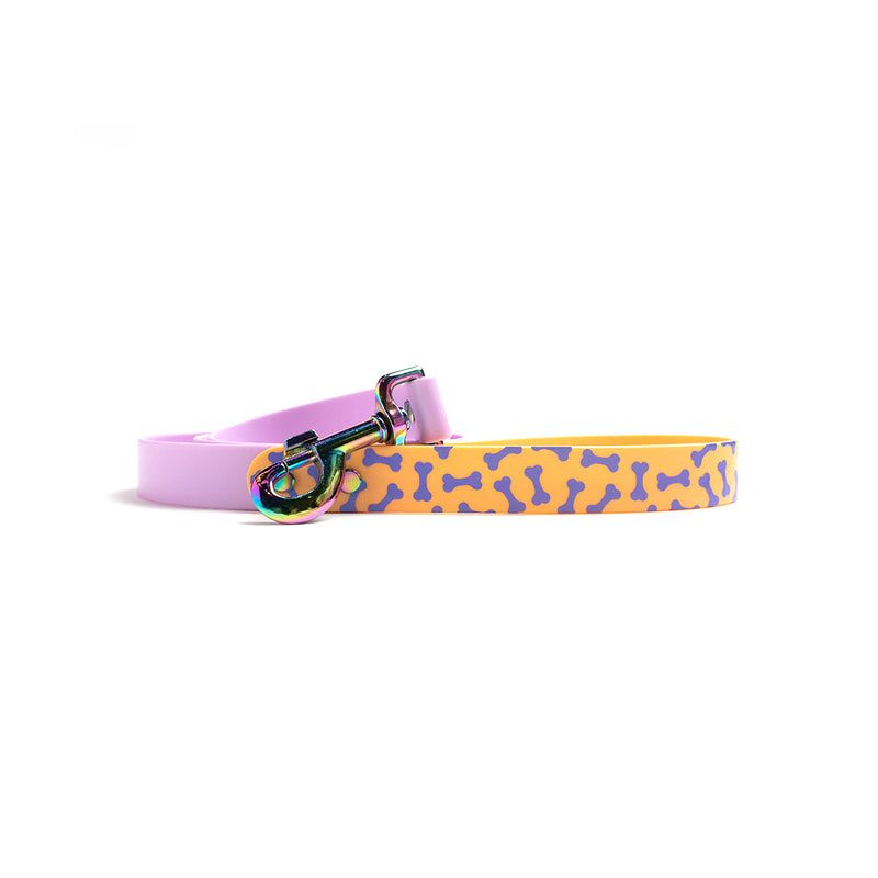 Miami Sky Waterproof Dog Collar-Orange bone