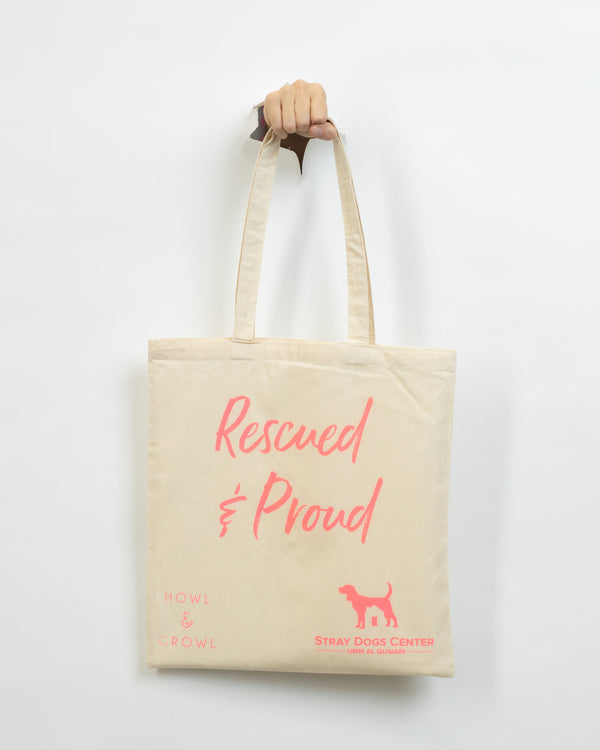 Rescued & Proud Tote Bag