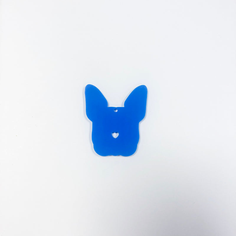Frenchie Dog Tag Blue