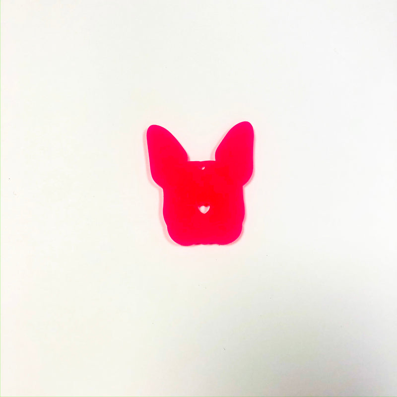Frenchie Dog Tag Pink