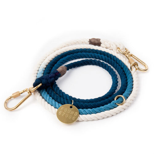 Indigo ombre dog lead