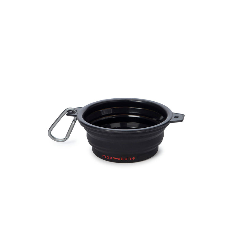 Maxbone Rubber Travel Dog Bowl-Black