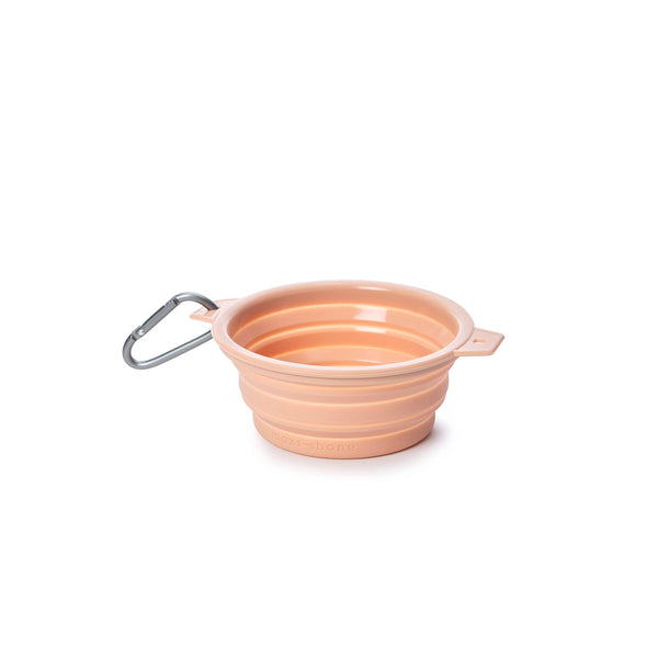 Maxbone Rubber Travel Dog Bowl-Blush