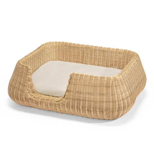 Mio Wicker Dog Basket