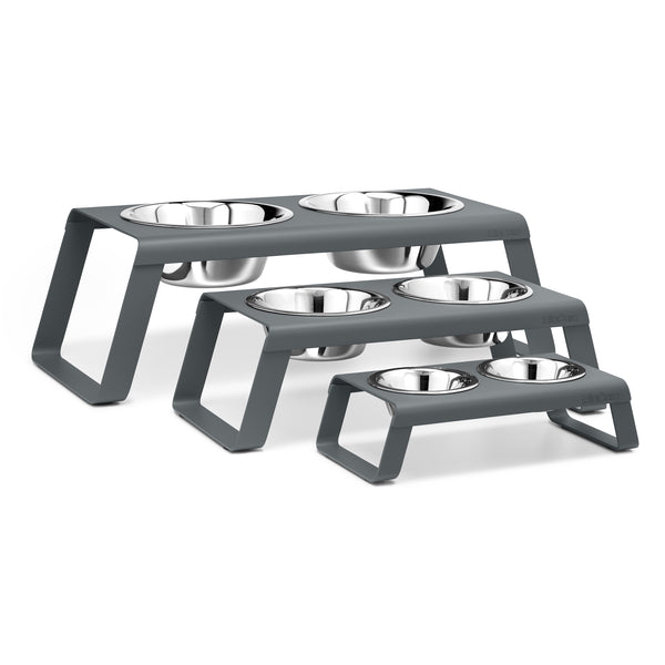 Desco Dog Feeders Grey