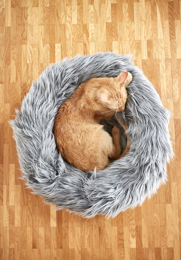 Capello Grey Cat Bed-Lifestyle