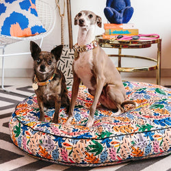 Frond of You Dog Bed-Lifestyle