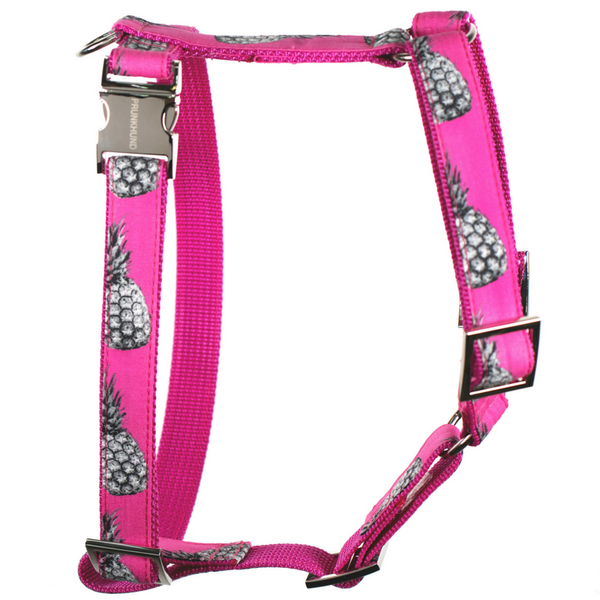 Prunkhund-Pineapple Pink Dog Harness