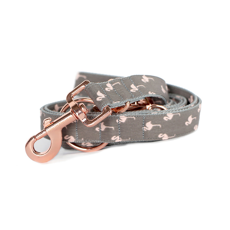 Prunkhund- Flamingo Grey Dog Lead