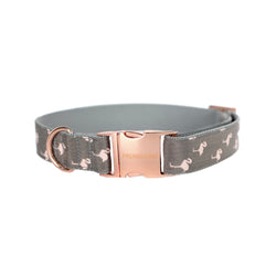 Prunkhund-Flamingo Grey Dog Collar