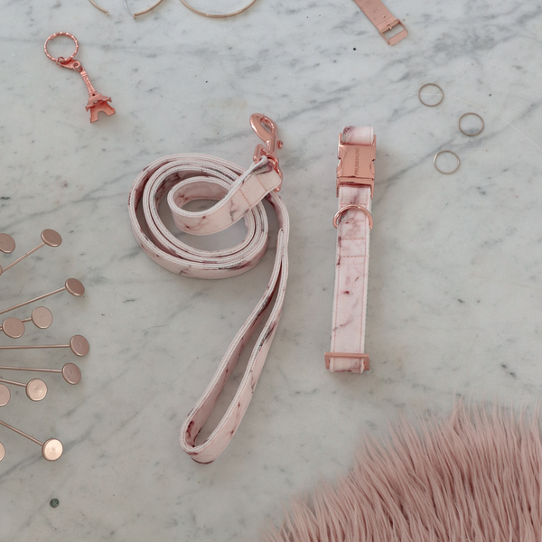 Marble Blush Adjustable Dog Lead (Pre-order)