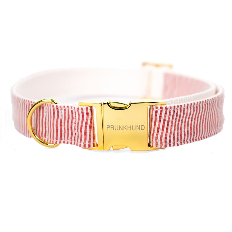 Riviera Red Dog Collar