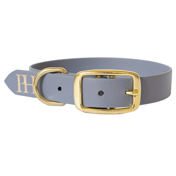 Prunkhund-Waterproof Dog Collar Grey