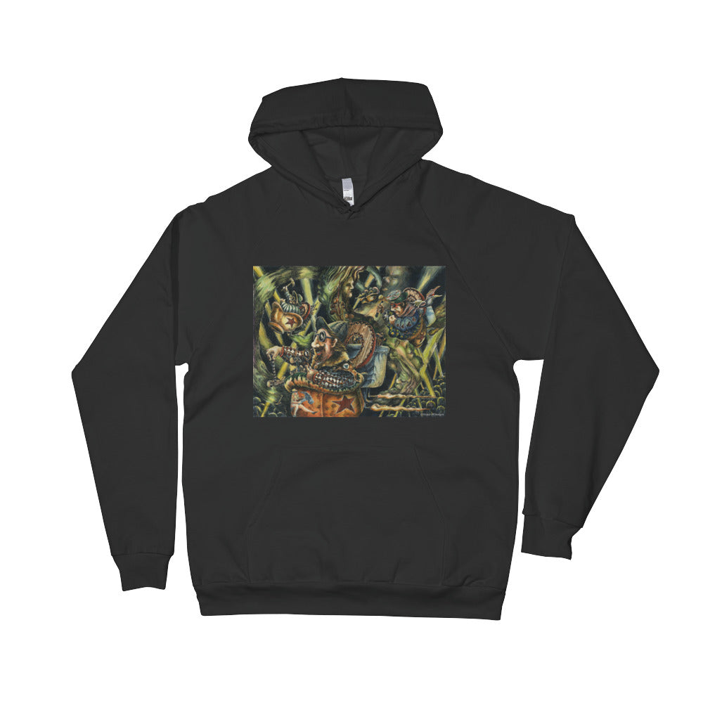 """Pentagon Purchasers at Play"" Unisex Fleece Hoodie - Shop Woodruff Designs"