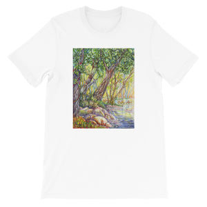 """A Walk in the Woods"" Unisex T-Shirt - Shop Woodruff Designs"
