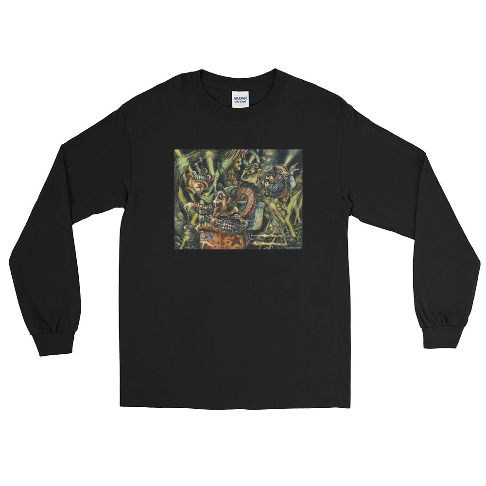 """Pentagon Purchasers at Play"" Men's Long Sleeve Shirt - Shop Woodruff Designs"