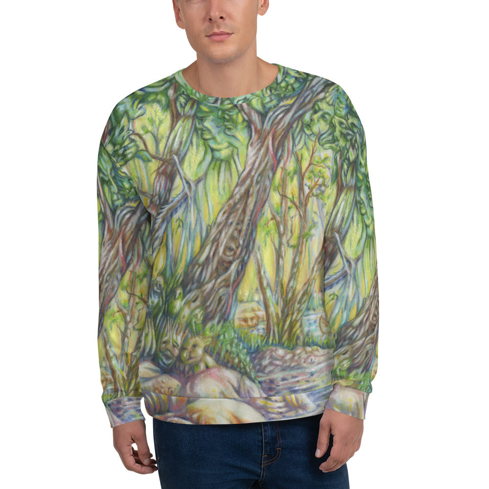 """A Walk in the Woods"" Unisex Sweatshirt - Shop Woodruff Designs"