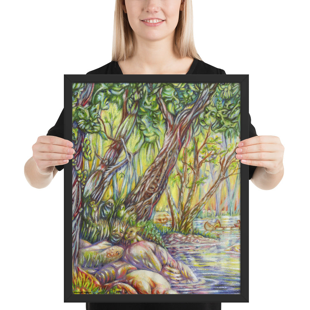 """A Walk in the Woods"" Framed poster - Shop Woodruff Designs"