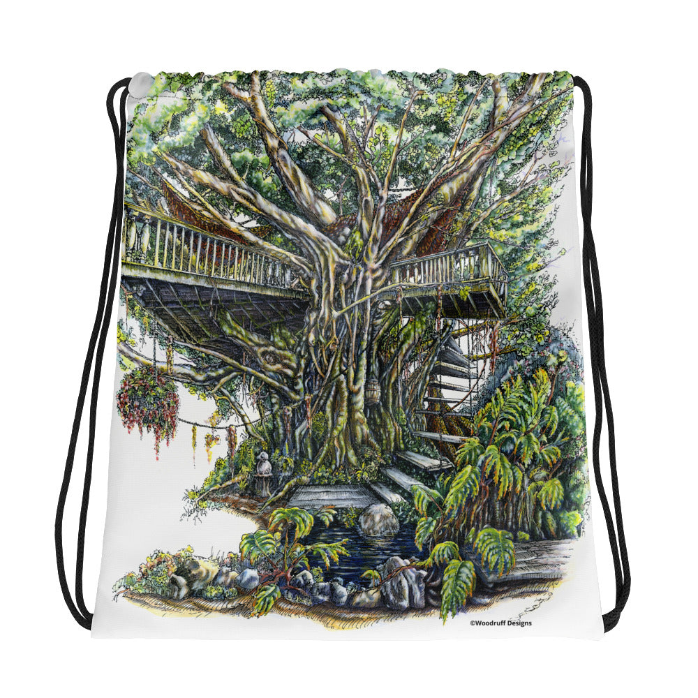 """The Treehouse"" Drawstring bag - Shop Woodruff Designs"
