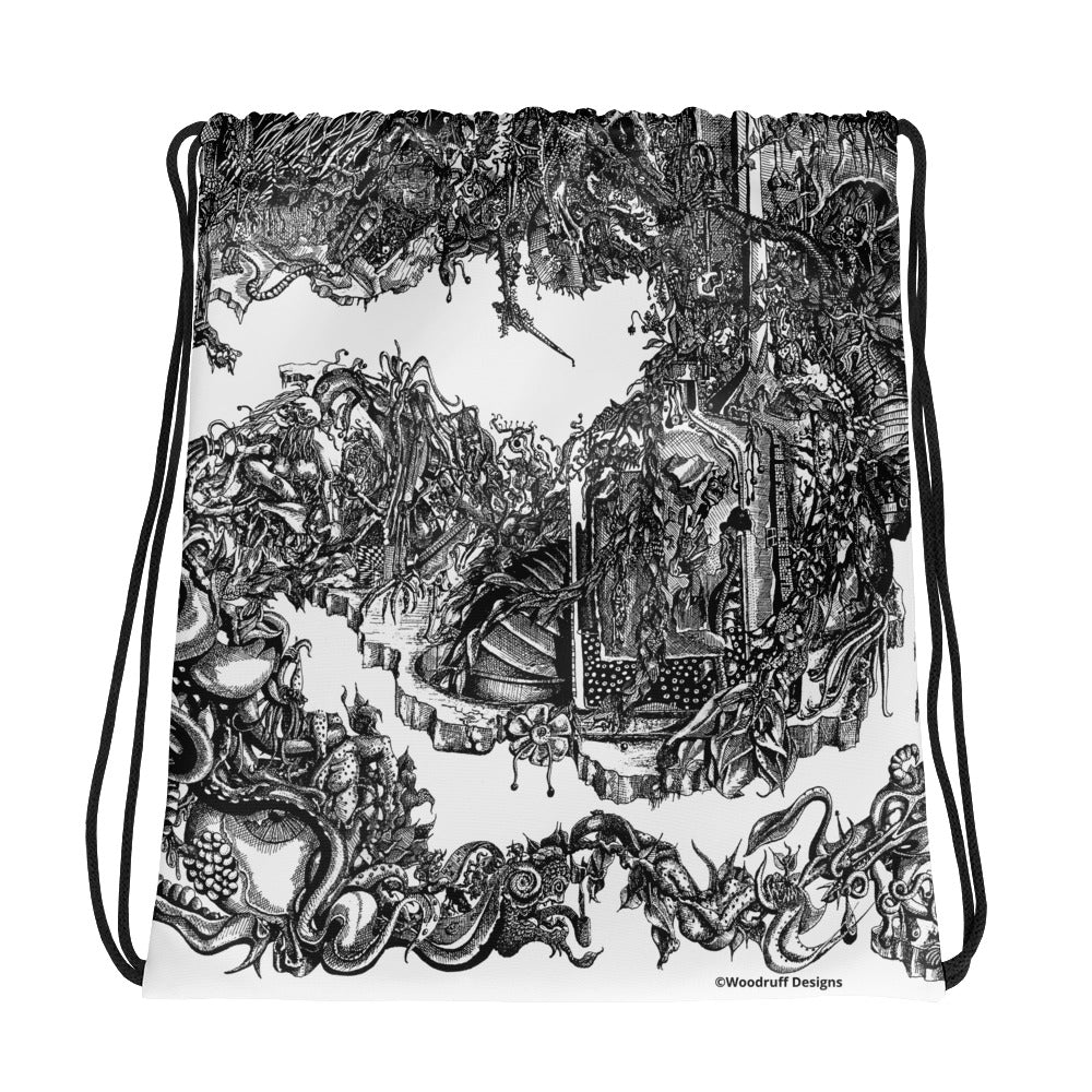 """Apocalypse"" Drawstring bag - Shop Woodruff Designs"