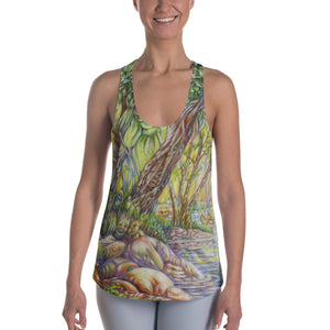 """A Walk in the Woods""  Racerback Tank - Shop Woodruff Designs"