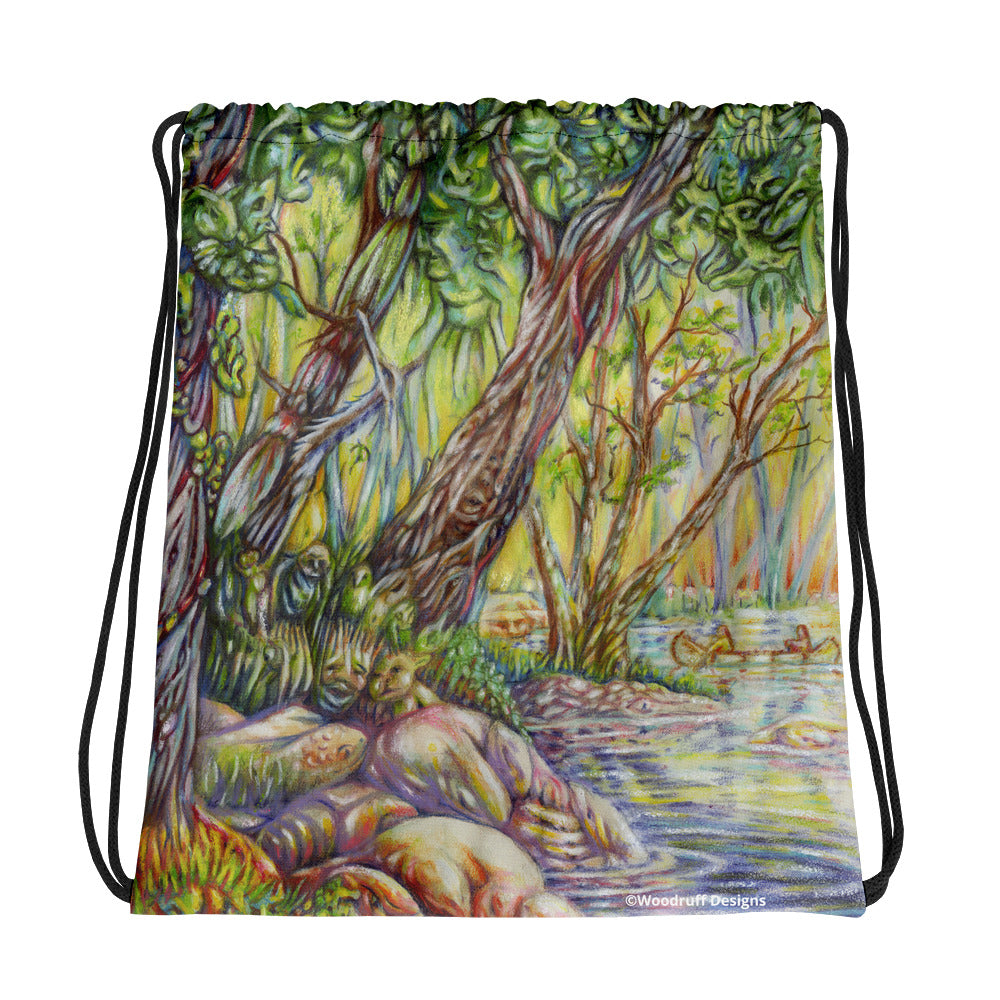 """A Walk in the Woods"" Drawstring bag - Shop Woodruff Designs"