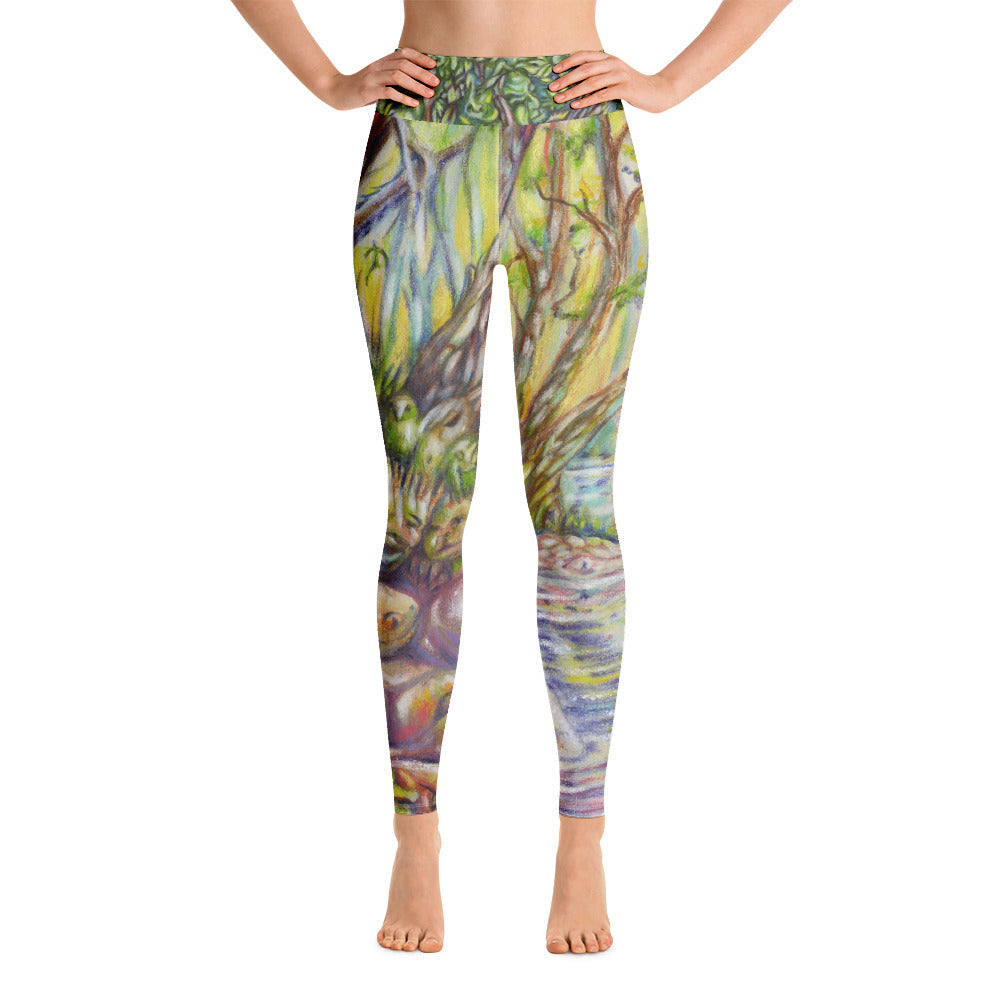 """A Walk in the Woods"" Yoga Leggings - Shop Woodruff Designs"