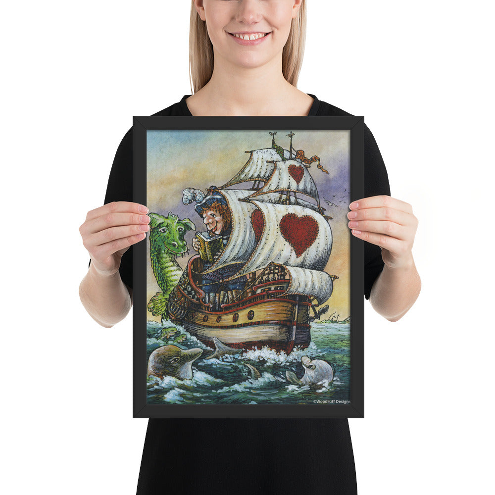 """Sea Story"" Framed Poster - Shop Woodruff Designs"