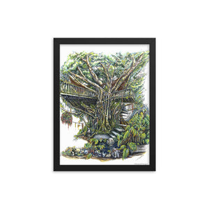 """The Treehouse"" Framed Poster - Shop Woodruff Designs"