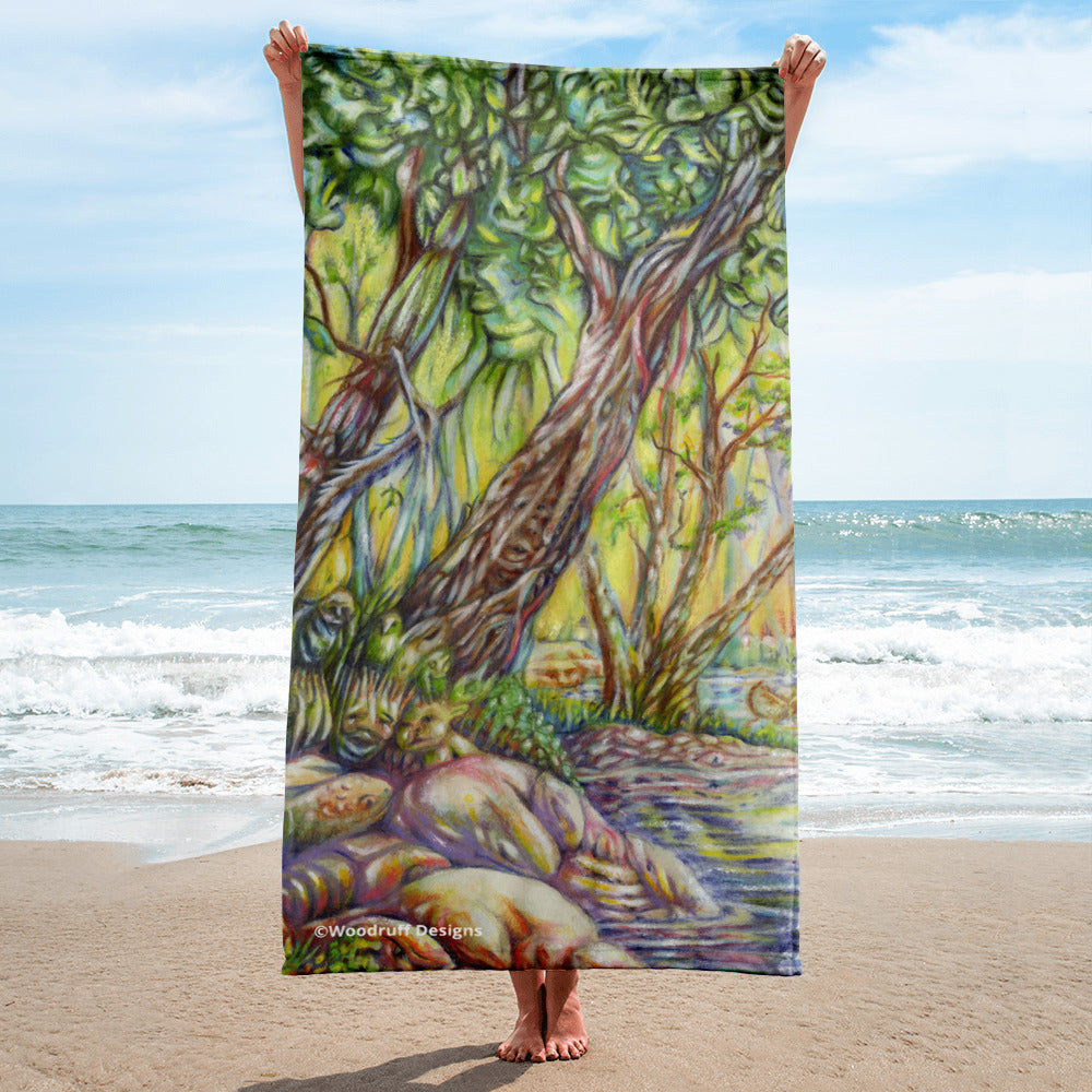"""A Walk in the Woods"" Towel - Shop Woodruff Designs"