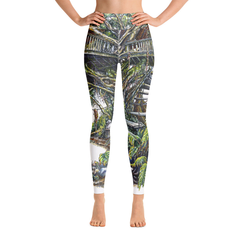 """Tree House"" Yoga Leggings - Shop Woodruff Designs"