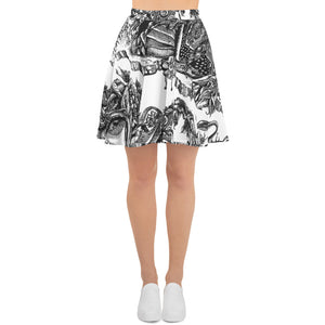 """Apocalypse"" Skater Skirt - Shop Woodruff Designs"