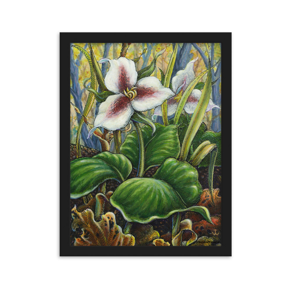 """Trillium"" Framed Matte Poster - Shop Woodruff Designs"
