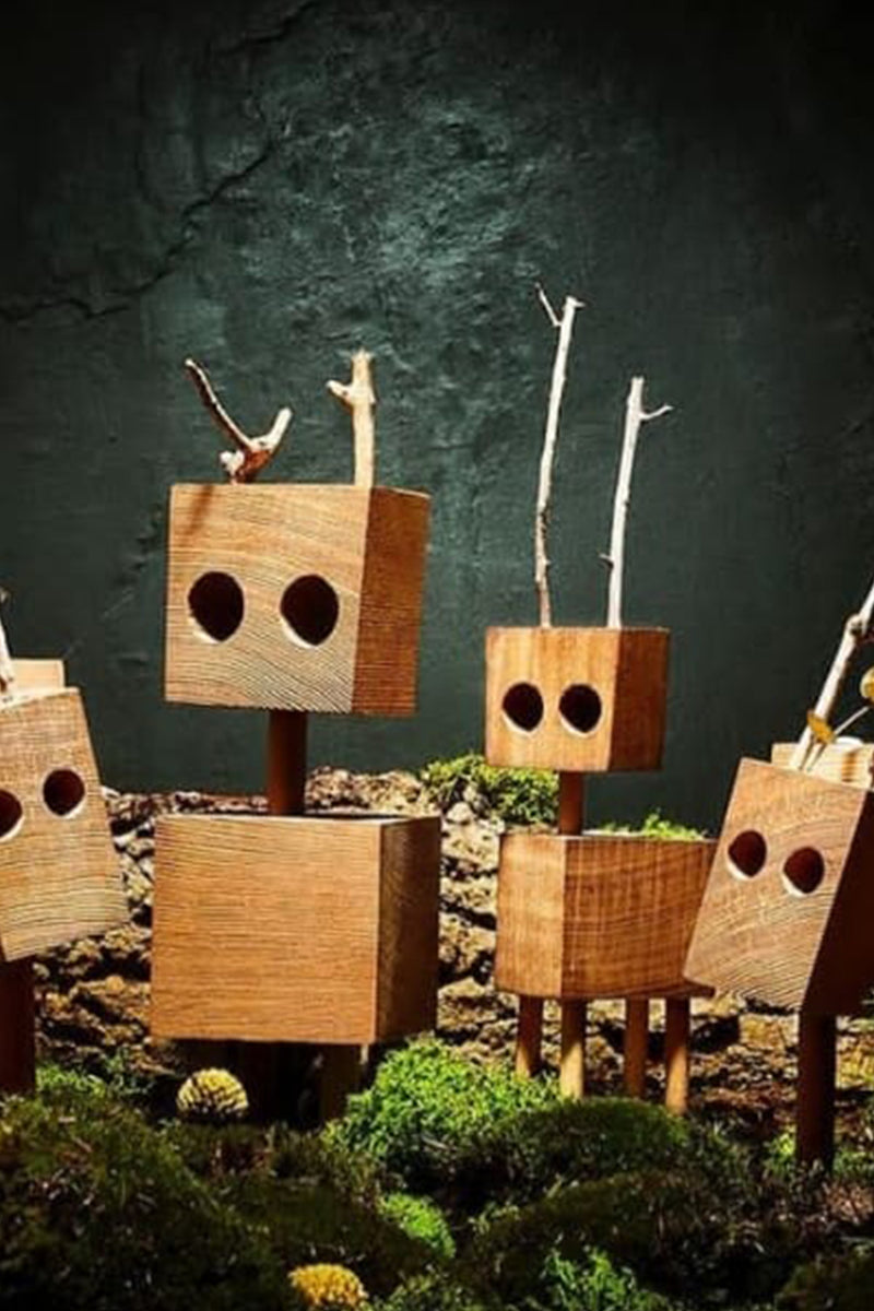 Wooden creatures \ David Budzik - Large