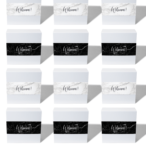 giftwell box wedding welcome gift marble black white