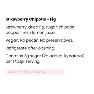 Trade Street Jam Co., Strawberry Chipotle & Fig